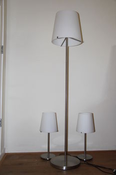 Unknown designer for Fontana Arte - 2 table lamps and 1 standing lamp, series 3247