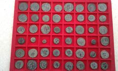 Roman Empire - Lot composed of 48 coins from Emperors and Caesars of the Lower Roman Empire: