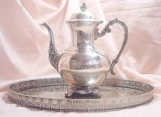 Haseler & Restall tray with Victorian coffeepot