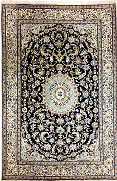 Persian carpet, Nain with silk – 293 x 193 cm