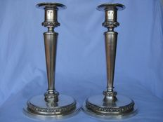 Pair of Italian candlesticks -Vicenza - 19th century