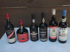 "1x Tawny Port Dow's N° 1 & 1x Medium Tawny Port Fonseca's & 1x Ruby Port Hutchenson's ""Porto Bello"" & 1x Pocas Junior Port ""Two Diamonds"" & 1x Sherry Oloroso 501 Tercios & 1x Sherry Amontillado Diez Hemanos - 6 bottles"