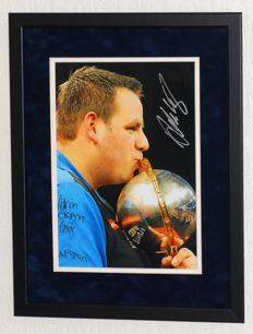 Adrian Lewis original signed photo - Premium framed + Certificate of Authenticity and photo evidence