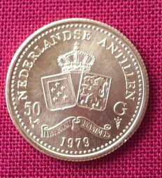 Netherlands Antilles – 50 guilder coin 1979, Juliana – gold