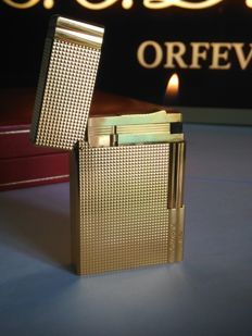 S.T Dupont lighter line 2 GATSBY gold plated - new