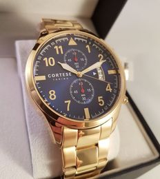 Cortese Reale Gold Chronograph  - Men's wristwatch - 2017 Unworn Complete in Box