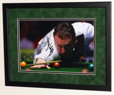 Jimmy White original signed photo - Premium framed + Certificate of Authenticity