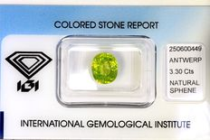 Sphene - 3.30 ct