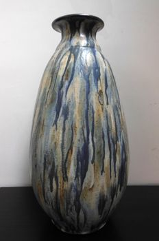 Auguste Blanche – Imposing Art Deco floor vase with crystallised salt glaze