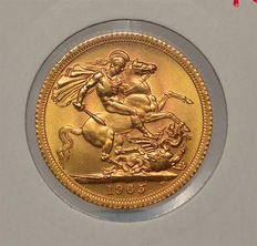 United Kingdom - Sovereign 1965 Elizabeth II - gold