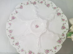 Crockery for oysters - 10 people, hand painted