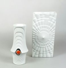 Gebr. Winterling A.G. and Krister - two 'Op art' porcelain vases