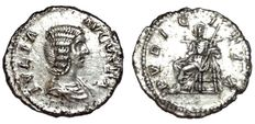 Roman Empire - Julia Domna (wife of Septimius Severus, 193-217 AD) - AR Denarius (19,5mm; 2,96g.) - Rome mint, c. 211 AD - Bust / Pvdicitia - RIC IV, 575