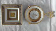 Two gold plated Limoges Ashtrays - Rosenthal