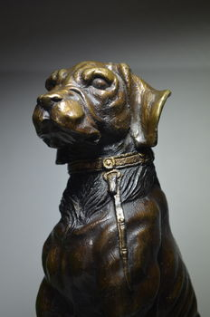 Bronze hunting dog, Belgium, second half of the 20th century