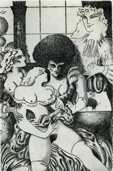 Original print; Ramon Ramírez - Erotic games - 1977