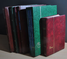 World - batch with various themes in stock books, including numbers.