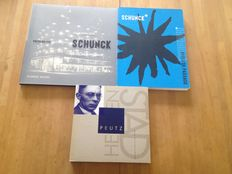 "Lot with 3 publications on the architect Frits Peutz and his ""Glaspaleis Schunck"" in Heerlen - 1994 / 2009"