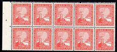 German Empire/Reich 1925 – Rheinland stamps, booklet sheet Michel 39B and 40B