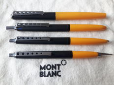 Montblanc Carrera quartet set - fountain pen, ballpoint pen, mechanical pencil and four-colour pen