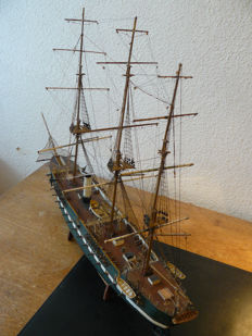 Wooden model of the Danish steam frigate Jylland