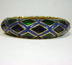 Kennet J Lane wide vintage bracelet New York 1960-1965