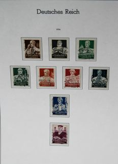 German Reich 1934/1939 - collection on album pages