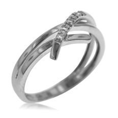 18kt white gold ring. Ring size: 53-17-N (UK)