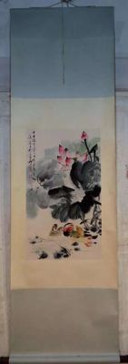 Hand -painted scroll painting - china - 2nd half 20th century