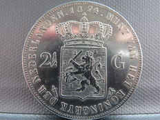 Netherlands - 2½ guilder, 1874 William III - silver