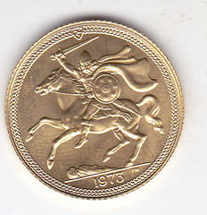 Isle of Man - 1/2 pound from 1973 - gold