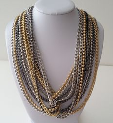 Amazing High-End Signed Lia Sophia Multi Chain Necklace