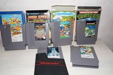 Lot 6 Nintendo NES games - 4 are boxed.