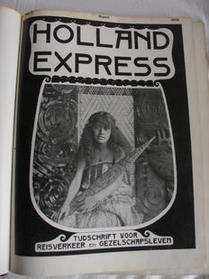 Lot with thee bound volumes of Holland Express - 1908/1910