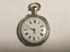 "Pocket watch in silver from between 1880-1900 ""No reserve price"""