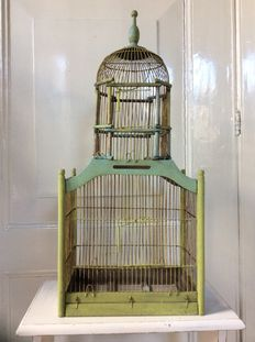 Very decorative old bird cage, 1st half of 20th century