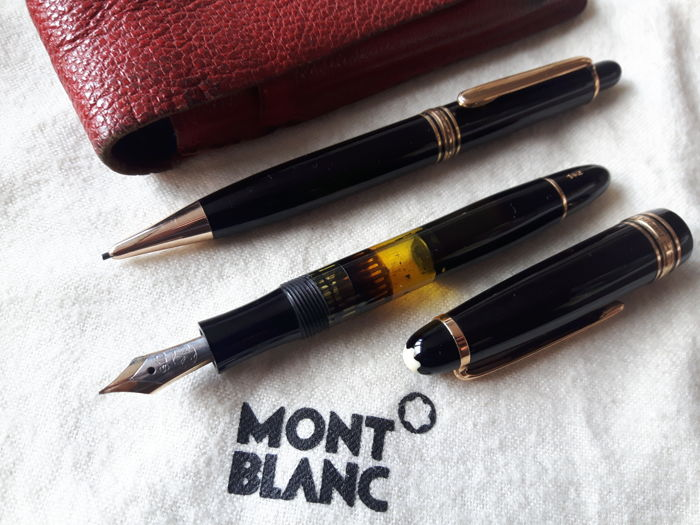 59068ee50af44 Vintage montblanc meisterstück duo set no fountain pen and mechanical pencil  classic mont blanc jpg 700x525