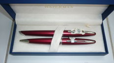 Waterman Carene garnet red fountain pen and ballpen