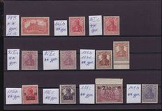 German Empire 1900/1920 - collection on stock cards