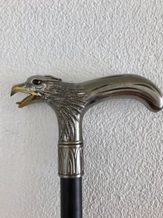 Handmade iron walking stick with American Eagle handle.