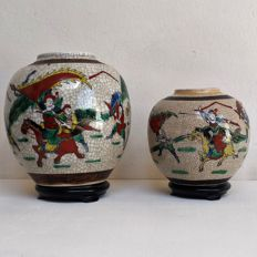 Two Nanking ginger pots - China - late 19th / early 20th century