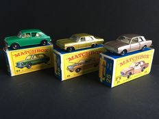 Lesney Matchbox - Misc. scales - Ford Cortina No.25, Opel Diplomat No.36 and MG 1100 No.64