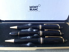 Montblanc Meisterstück - triple set - 146 Meisterstück fountain pen (14 k point), ballpoint pen and mechanical pencil - original box