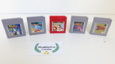 Lot of 5 Game Boy games, including rare to find Felix the Cat & Mr. Do