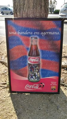 Posters of COCA - COLA and the football team FC Barcelona (BARÇA) - 2004