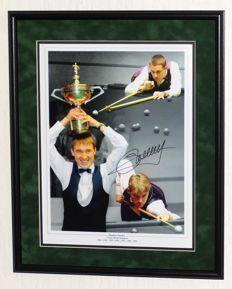 Stephen Hendry original signed photo / poster - Premium framed + Certificate of Authenticity