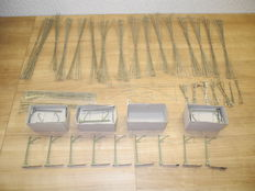 Märklin H0 - 7019/-18/-17/-22/-14/-15/-23/-25/-09 - 180-part lot of overhead materials by Märklin with 40 overhead line masts and wires  [676]