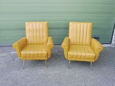 Unknown designer – two vintage mid-century armchairs
