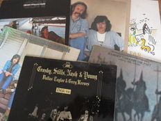 Nice Lot with 7 Albums of Crosby, Stills Nash & Young and Related