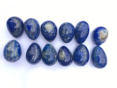 Set of Lapis Lazuli eggs - 40 to 45mm - 750gm  (12)